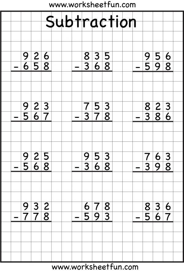 Regrouping Subtraction Worksheets 3rd Grade Subtraction Regrouping with Images