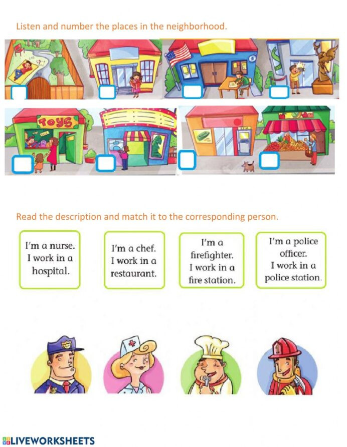 Restaurant Math Worksheets In My Neighborhood Interactive Worksheet Worksheets Grade
