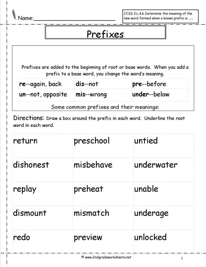 Root Word Worksheets 2nd Grade Second Grade Prefixes Worksheets Prefix and Suffix 3rd Zoo