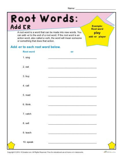 Root Word Worksheets 3rd Grade Root Words Worksheets