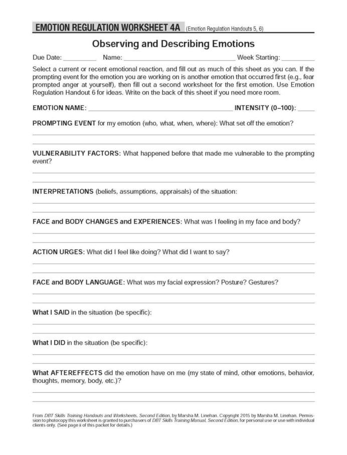 Science Fusion Grade 3 Worksheets Dbt Self Help Resources Observing and Describing Emotions