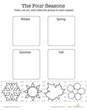 Seasons Worksheets for Kindergarten Seasons Worksheet In 2020