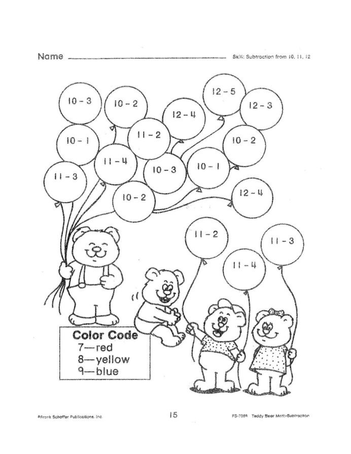 Second Grade Geometry Worksheets Free Math Worksheets Second Grade Subtraction Up Fun 9th