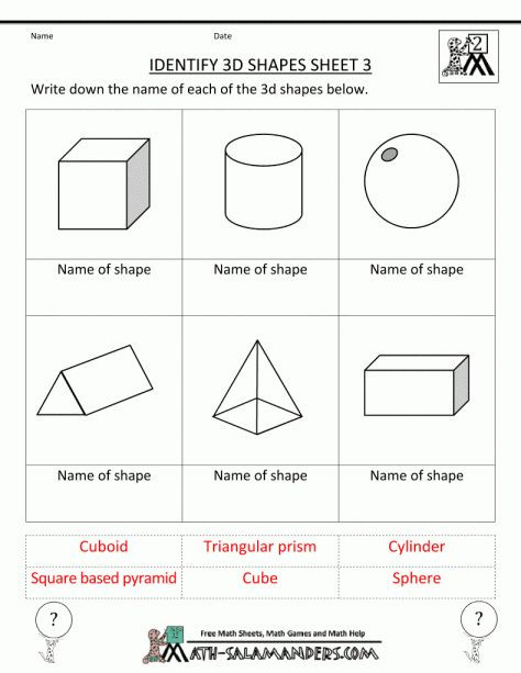 Second Grade Geometry Worksheets Pin On Kindergarten Worksheet