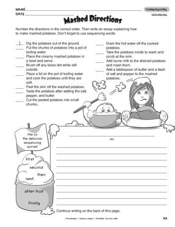 Sequence Worksheets 2nd Grade Mashed Directions Lesson Plans the Mailbox