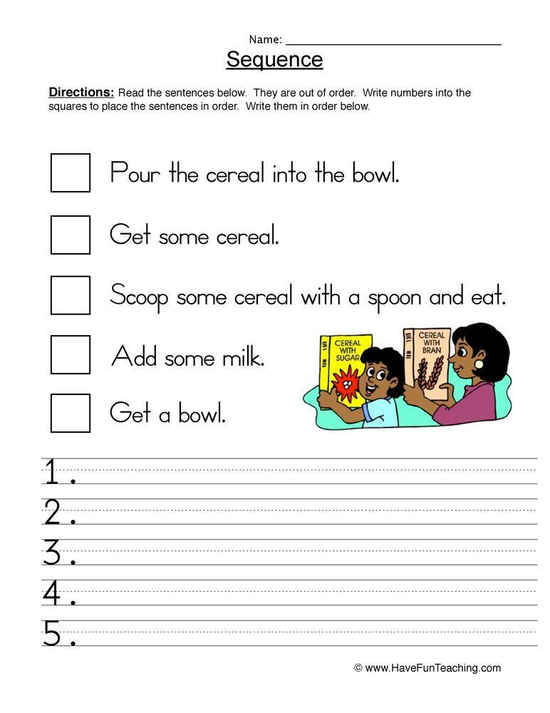 Sequence Worksheets 2nd Grade Morning Routine Sequence Worksheet