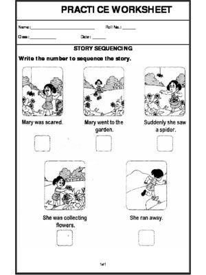 Sequence Worksheets 2nd Grade Story Sequencing