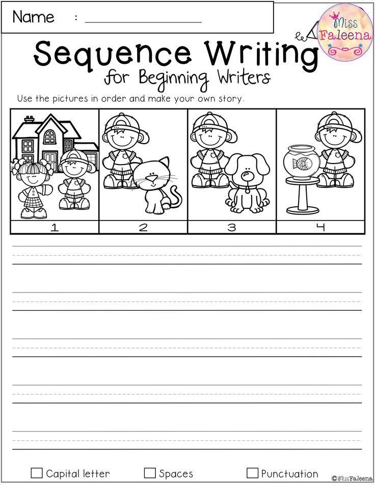 Sequence Worksheets for 1st Grade Free Sequence Writing for Beginning Writers