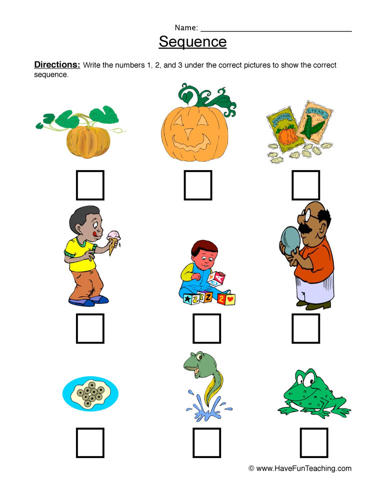 Sequence Worksheets for 1st Grade Sequence Sandwich Worksheet