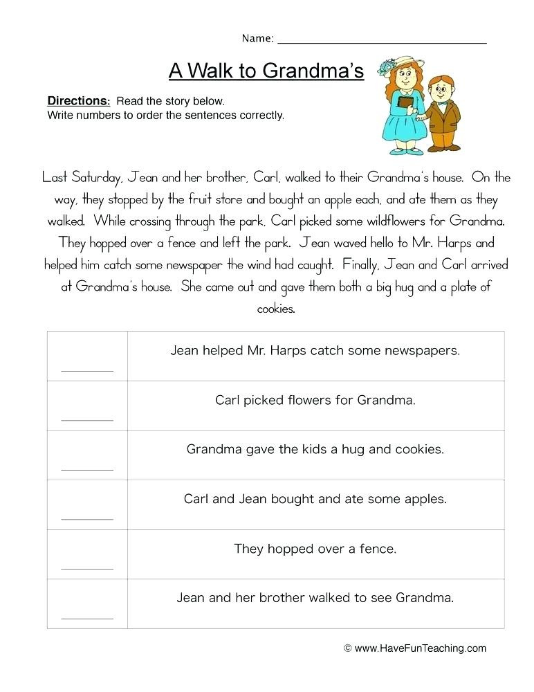 Sequencing Worksheet 2nd Grade Sequencing Worksheets 3rd Grade Download Free Educational