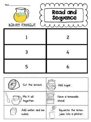 Sequencing Worksheet First Grade Read and Sequence Unit Makeover and A Lemonade Freebie