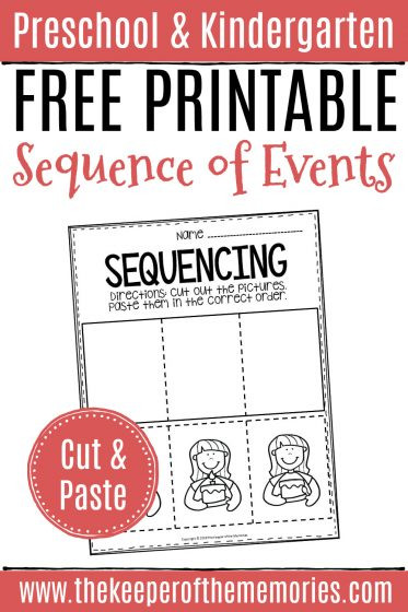 Sequencing Worksheets for Kindergarten Free Printable Sequence Of events Worksheets