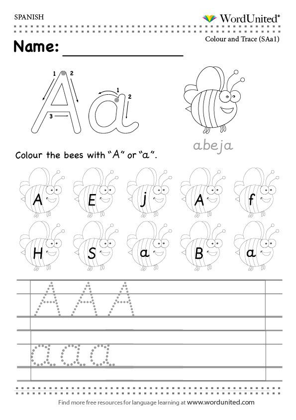 Spanish Alphabet Worksheets for Kindergarten Read and Write the Spanish Alphabet Wordunited Free