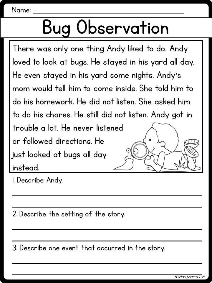 Story Elements Worksheet 2nd Grade Story Elements Rl1 3