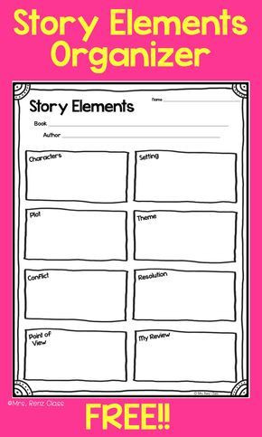 Story Elements Worksheet 2nd Grade Story Elements Story Map Freebie