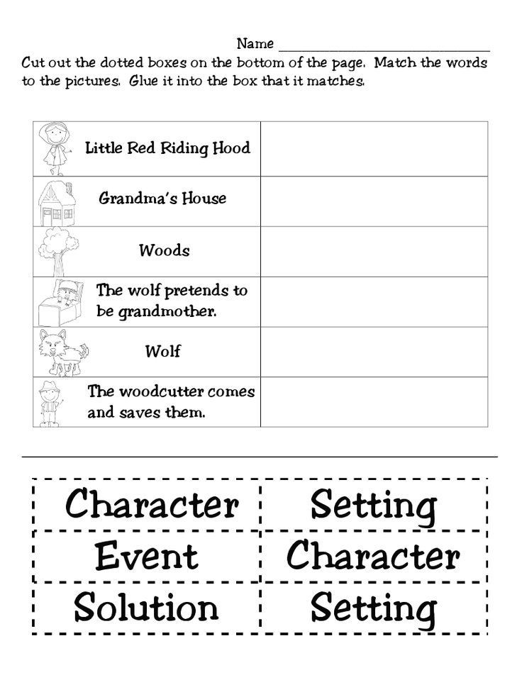 Story Elements Worksheets 2nd Grade Image Result for Literature Story Elements 2nd Grade