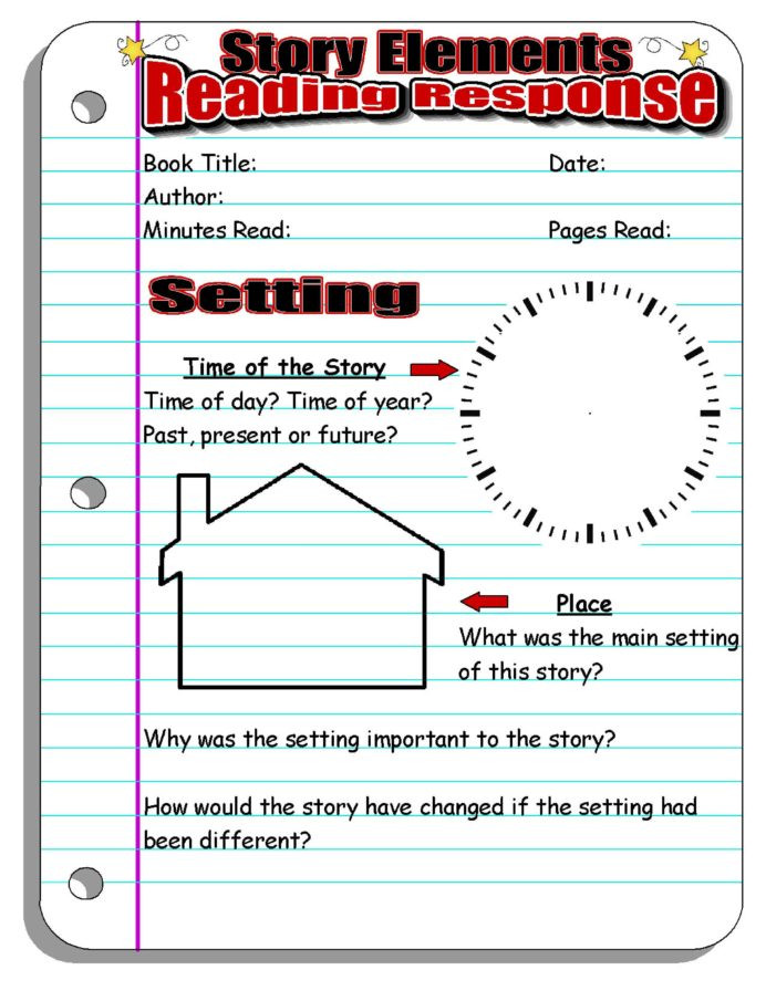 Story Elements Worksheets 2nd Grade Instant Lesson Plans for Any Book Perfect Substitutes