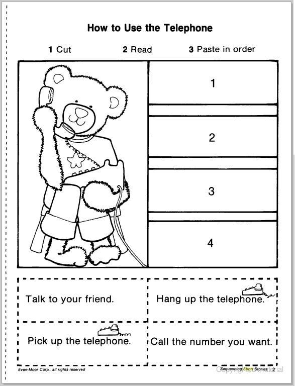 Story Sequence Worksheets for Kindergarten Pin On Jeanine7