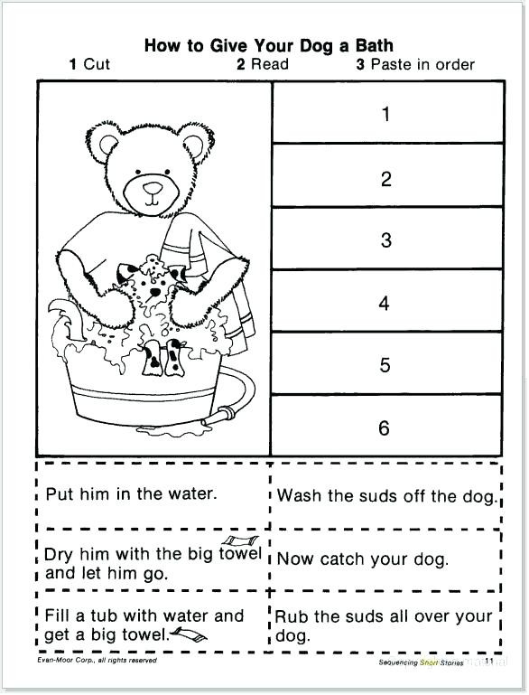 Story Sequence Worksheets for Kindergarten Sequence Worksheet Download and Print Turtle Story