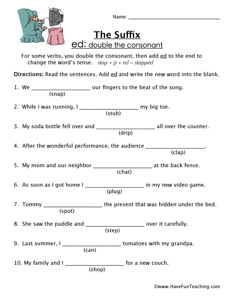 Suffix Worksheets 4th Grade Ed Suffix Worksheet