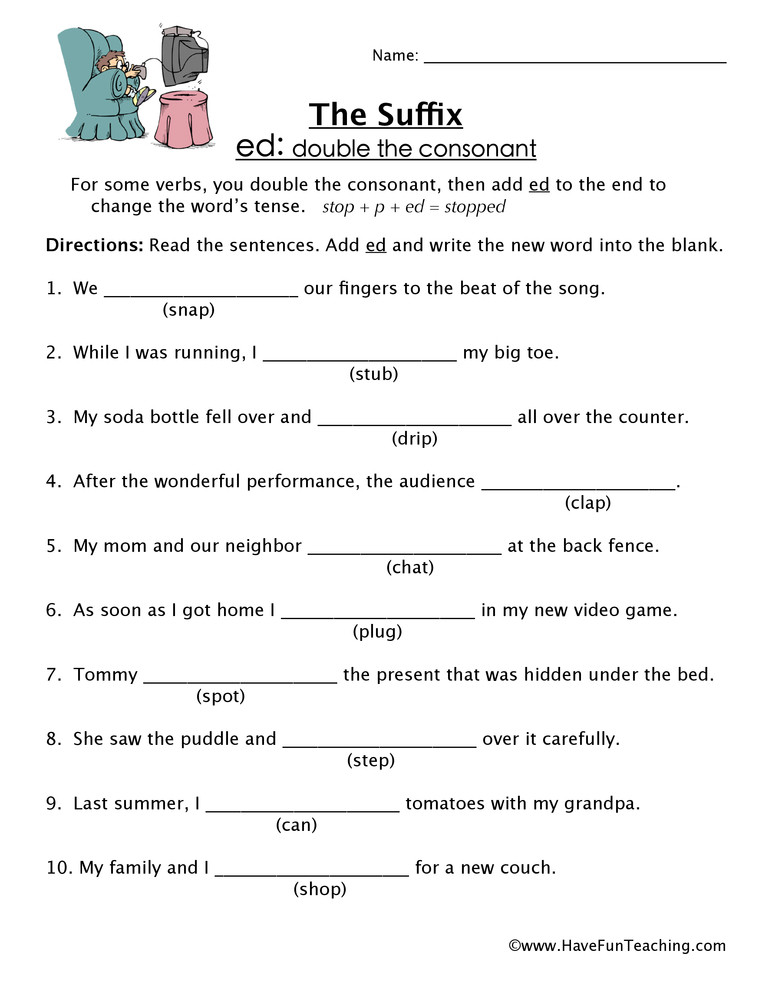 Suffixes Worksheets 4th Grade Ed Suffix Worksheet
