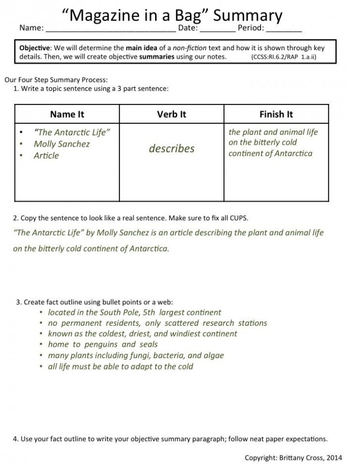 Summarizing Worksheet 3rd Grade Nonfiction Text Summary Template Worksheets