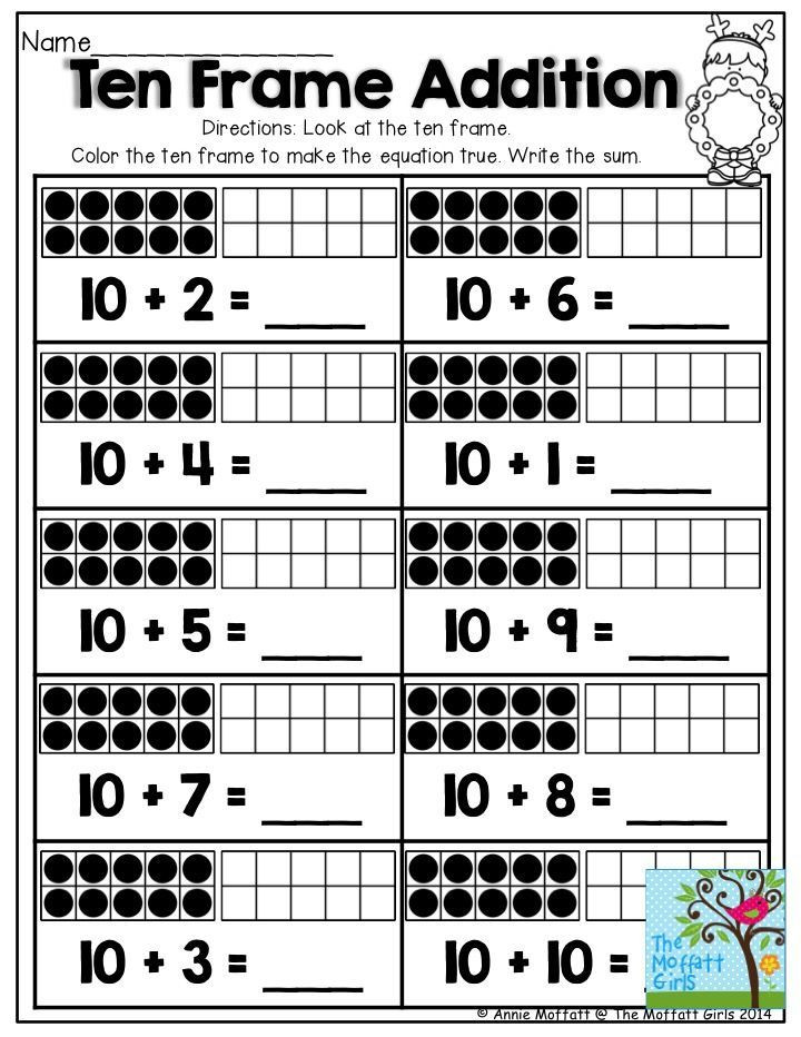 Ten Frame Worksheets First Grade 1000 Images About Tally Marks On Pinterest Ten Frame