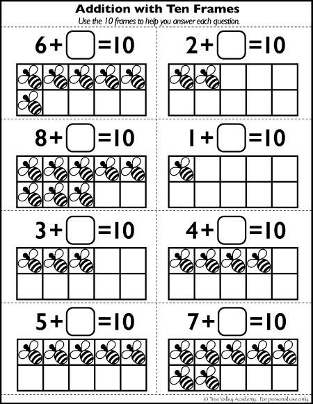 Ten Frame Worksheets First Grade Free Number 10 Worksheets