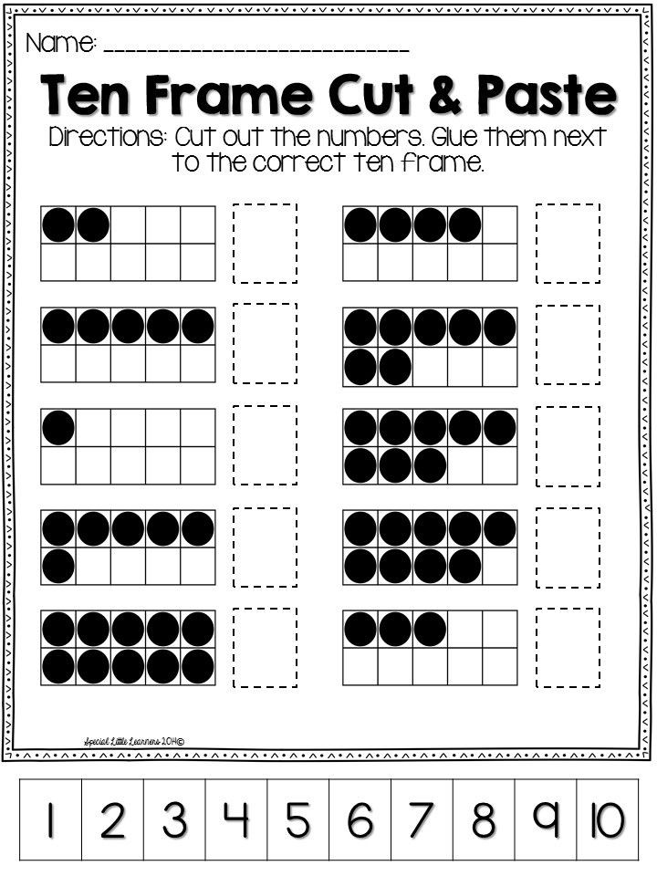 Ten Frame Worksheets for Kindergarten This Includes Everything You Need to Help Your Student