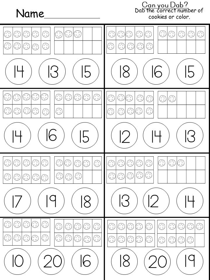 Ten Frame Worksheets Kindergarten Free Tens and Es Printable Kindermomma