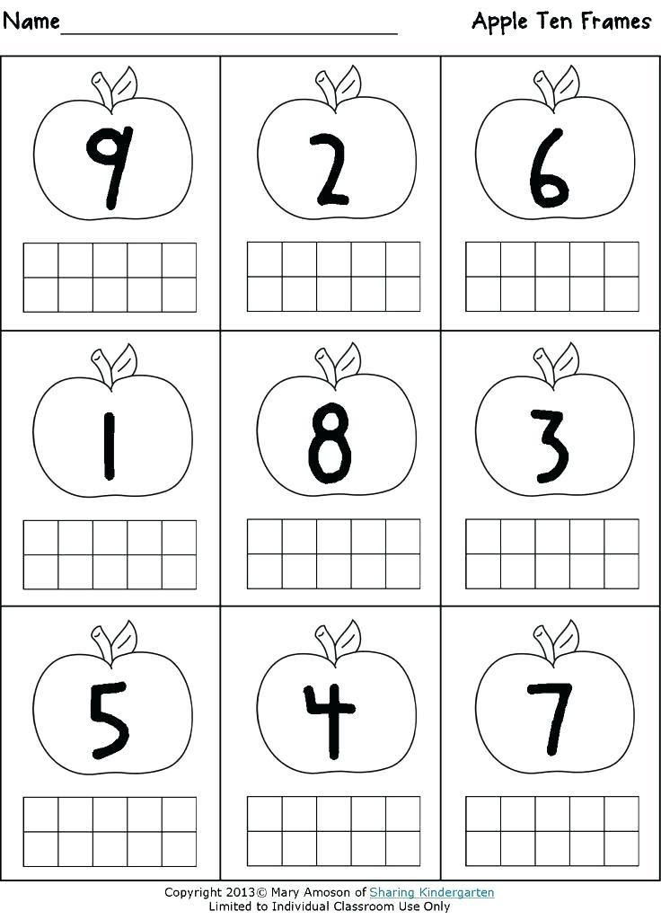 Ten Frame Worksheets Kindergarten Ten Frame Worksheets Kindergarten Siteframes Co