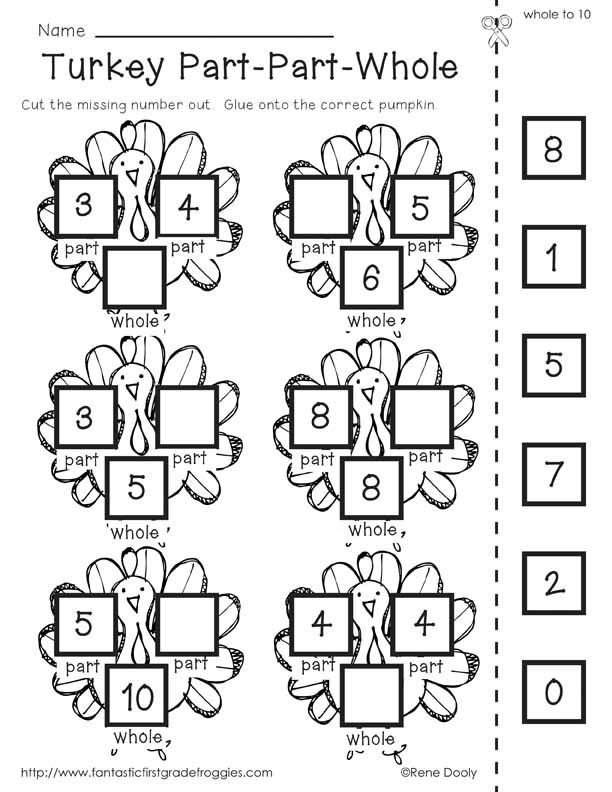 Thanksgiving Math Worksheets First Grade Free Thanksgiving Math Worksheets for 1st Grade لم يسبق له