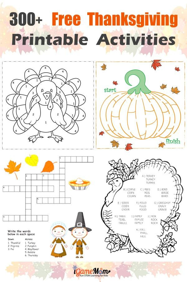 Thanksgiving Math Worksheets First Grade Free Thanksgiving Printables for Learning Worksheets