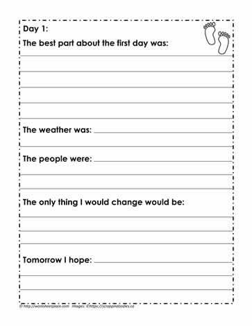 Theme Worksheets 2nd Grade Holiday Memory Book Page 4 Worksheets