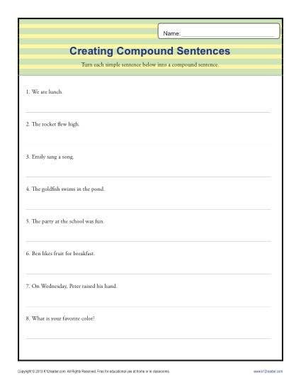 Topic Sentence Worksheets 3rd Grade Pund Sentence Worksheet