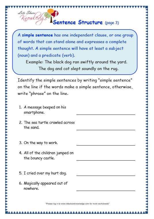 Topic Sentence Worksheets 4th Grade 4th Grade Sentence Structure Worksheets Worksheets I Ready