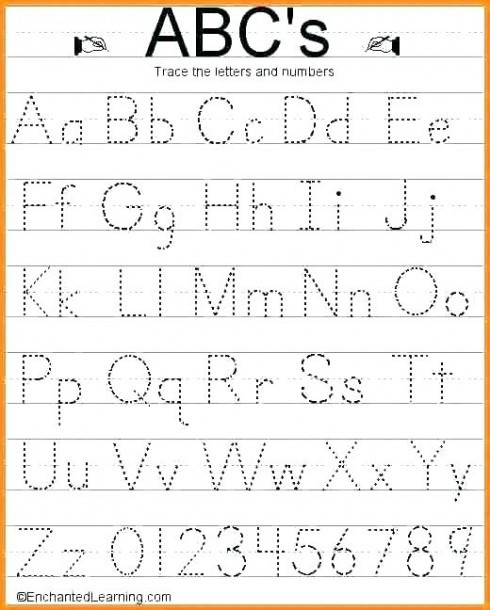 Tracing Lowercase Letters Printable Worksheets Worksheet Alphabet Tracing Template