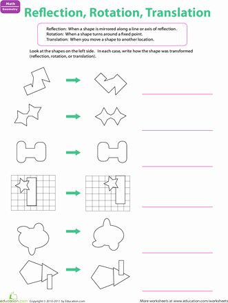 Translation Math Worksheets Pin On Grade Math Worksheets & Sample Printables