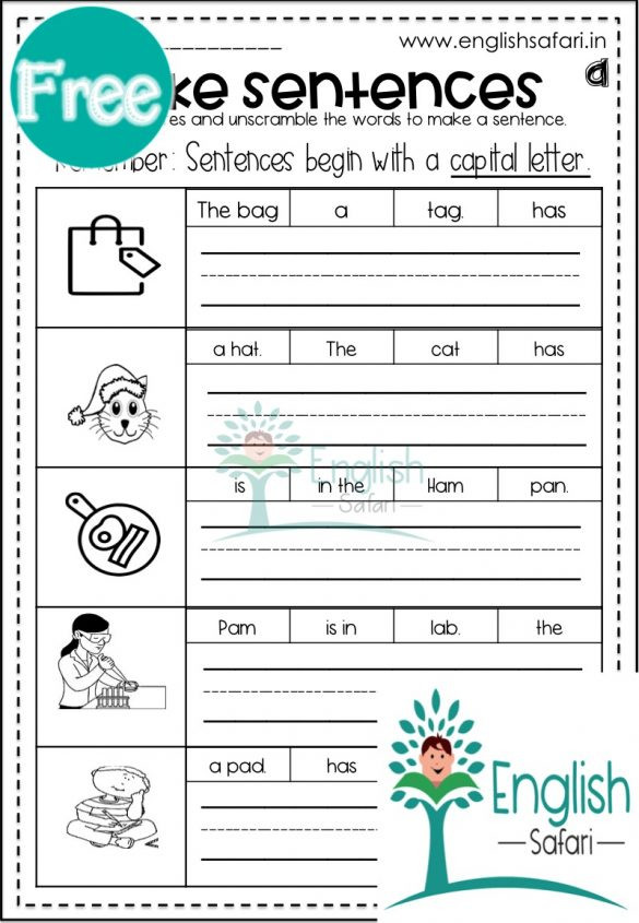 Unscramble Sentences Worksheets 1st Grade Phonics Sentences Worksheets Pack Free