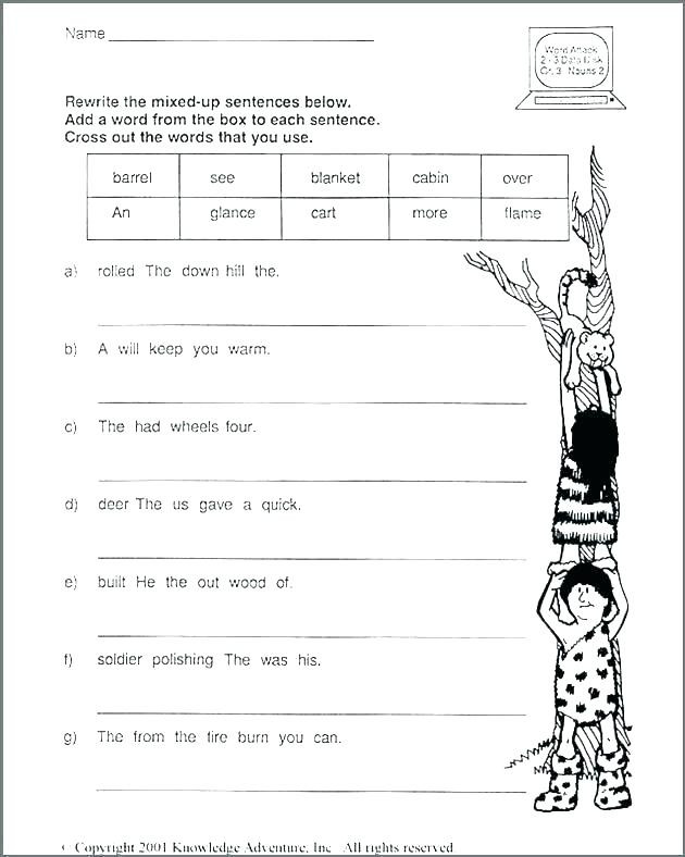 Unscramble Sentences Worksheets 1st Grade Scrambled Sentences Worksheets Grade 1 – Keepyourheadup