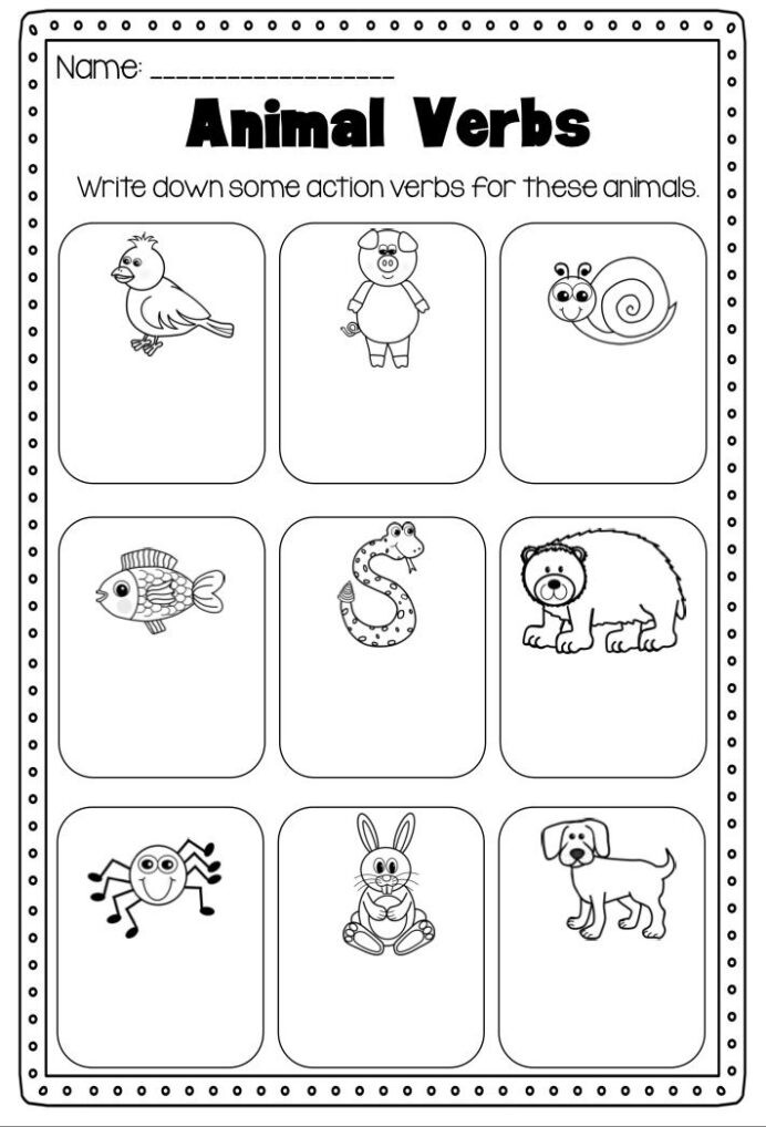 Verbs Worksheet First Grade Verbs Printable Worksheet Pack Kindergarten First Second