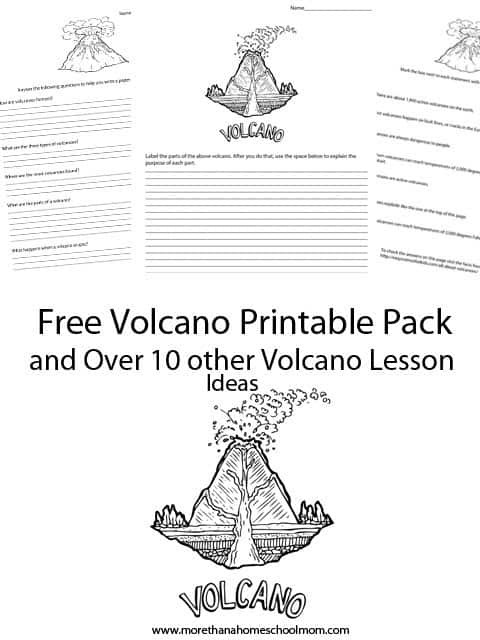 Volcano Worksheets for Kindergarten Learning About Volcanoes Free Printables and Resources