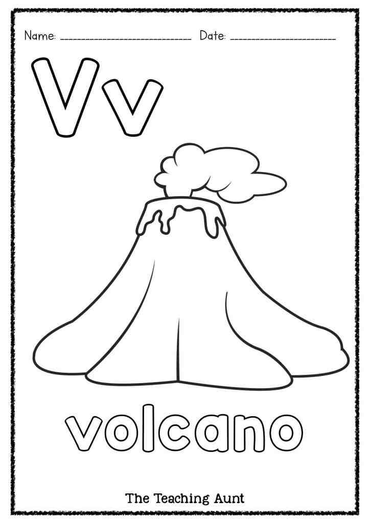Volcano Worksheets for Kindergarten V is for Volcano Art and Craft In 2020 with Images