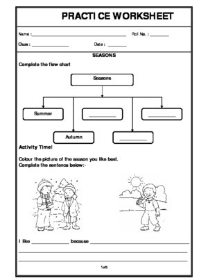 Weather Worksheets for 2nd Grade Seasons