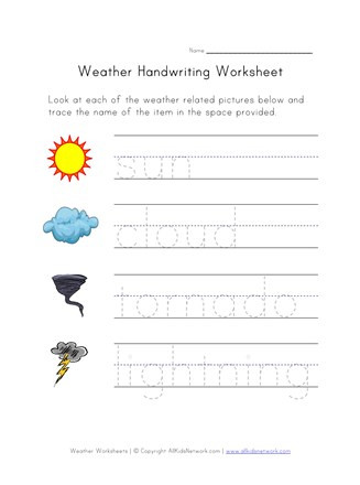Weather Worksheets for 2nd Grade Weather Worksheet Handwriting