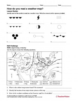 Weather Worksheets for 3rd Grade How Do You Read A Weather Map Weather Science Printable
