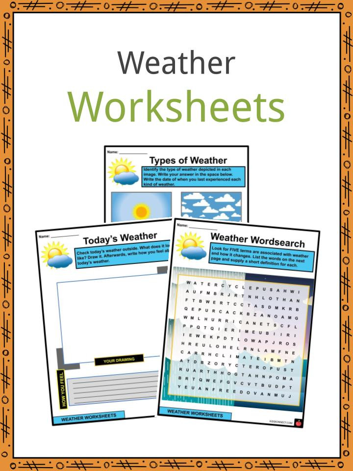 Weather Worksheets for 3rd Grade Weather Facts Worksheets & Types Of Weather for Kids