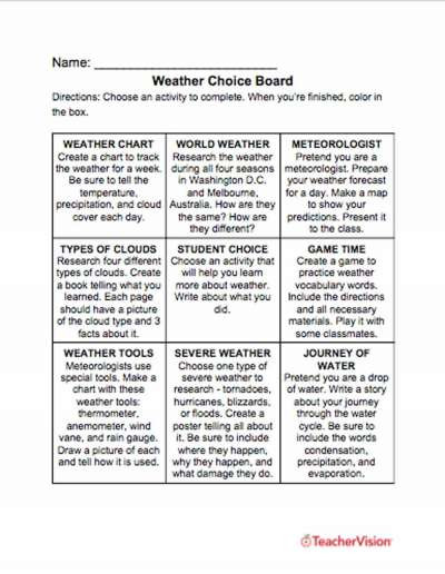 Weather Worksheets for 3rd Grade Weather Worksheets Lessons Resources Grades K 12