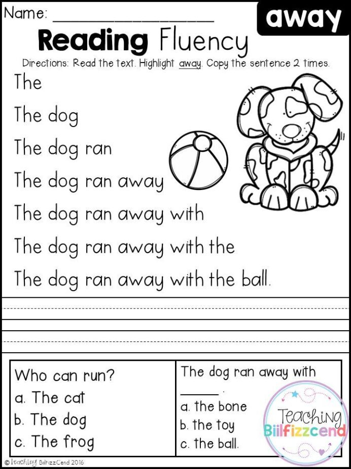 Word Problems Kindergarten Worksheets Free Reading Fluency and Prehension Set Kindergarten