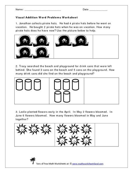 Word Problems Kindergarten Worksheets Visual Addition Word Problems Worksheet Worksheet for